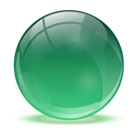 3D crystal sphere Vector