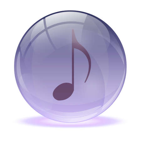 3D glass sphere and music icon Stock Vector - 17422710