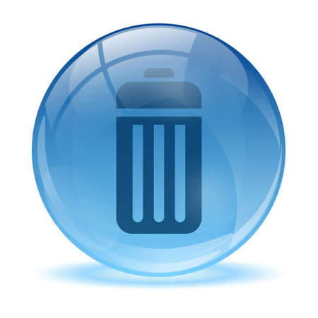 3D glass sphere and battery icon Vector