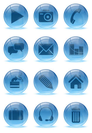 Abstract 3d icons set Stock Vector - 17422727