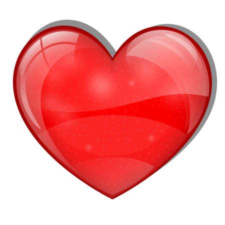 health care logo: Bright glass heart