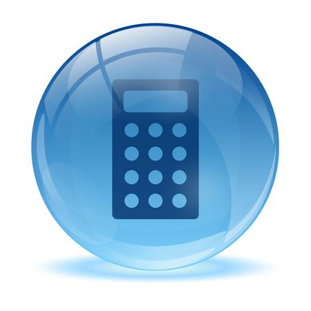 3D glass sphere and calculator  icon Stock Vector - 17478871