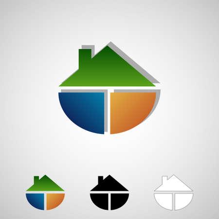 Real estate logos Illustration