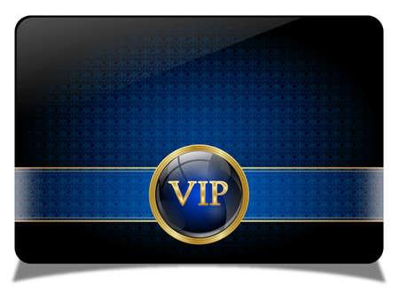 invitations: Blue vip card
