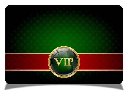 Green vip card Vector