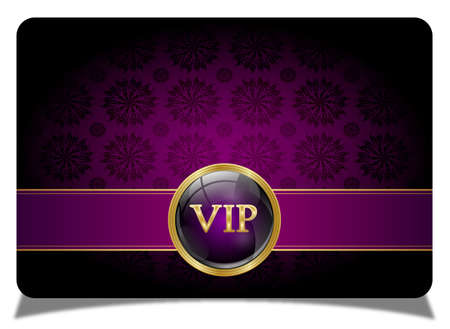 Purple vip card Vector