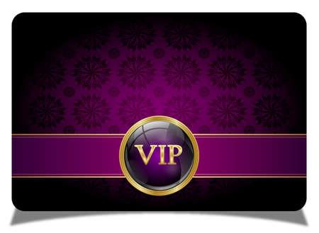 Purple vip card Illustration