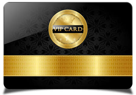 Black vip card Illustration