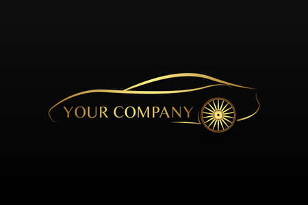 Golden car logo Stock Vector - 18775698