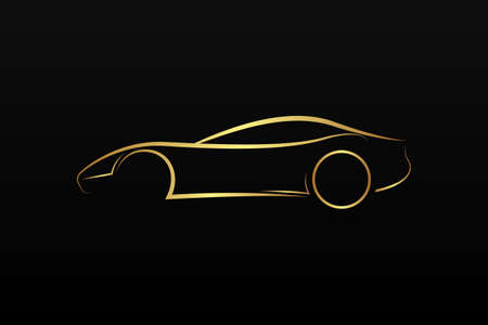 charismatic: Golden car logo