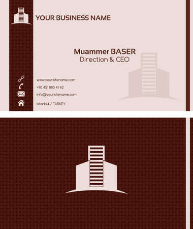 Real estate business card front and back Vector