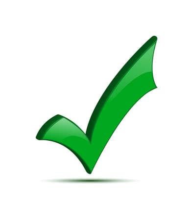 3d green okay icon Stock Vector - 18965537