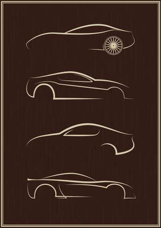 taxis: Calligraphic car logo set