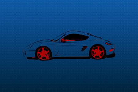 Abstract race car Vector