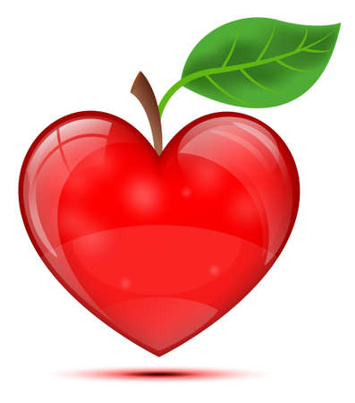 Heart Apple Stock Vector - 19685687