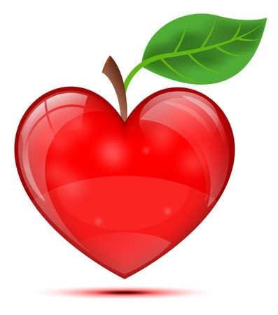 Heart Apple Illustration