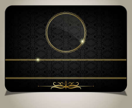 greeting card background: Black gift card
