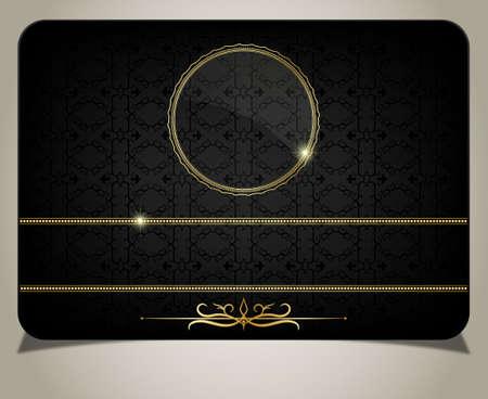 visitekaartje: Zwarte gift card Stock Illustratie