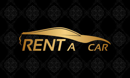 rent: Rent a car icon Illustration