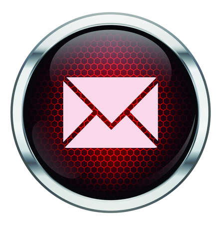 Red honeycomb mail icon Stock Vector - 21400511