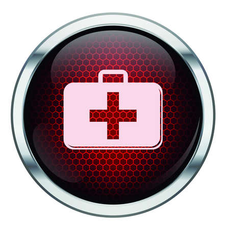 Red honeycomb medkit icon Stock Vector - 21400512