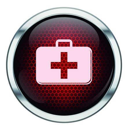 Red honeycomb medkit icon Stock Vector - 21400512