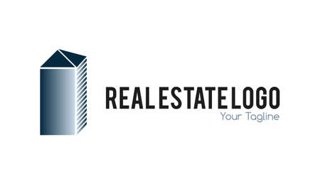 Real estate logo metallic  Creative building logo  Stock Vector - 21400520