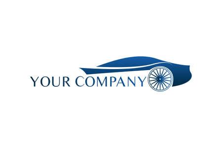 Coche creativo Logo automóvil caligráfico