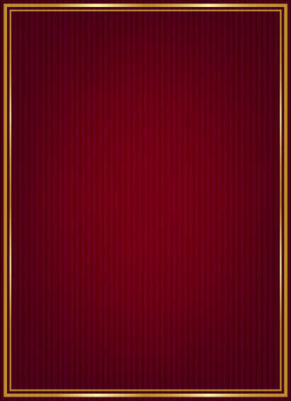 Red texture and golden frame Vector