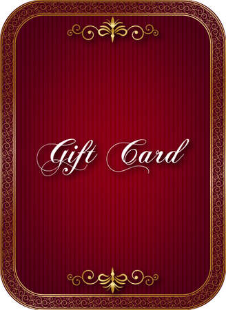 Decorative gift card Vector