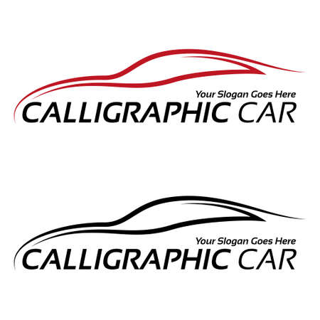 automobile industry: Calligraphic car  Illustration