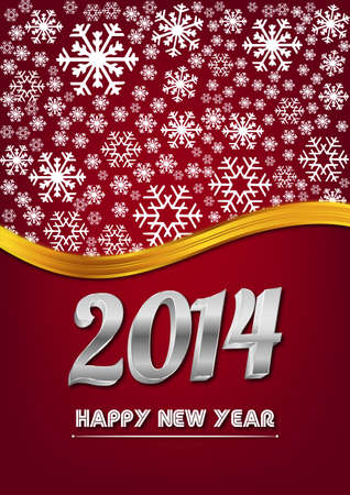 2014 Celebration card Vector