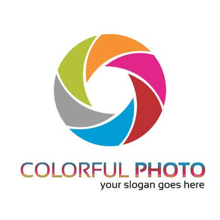 mensen kring: Creatieve fotograaf s logo werk