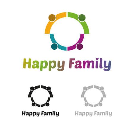 unify: Happy family logo Illustration