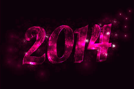 Purple new year 2014 Vector