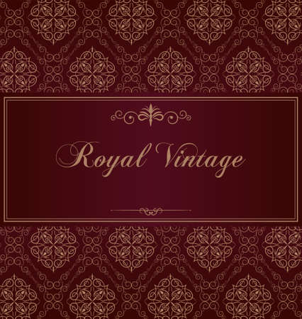 successes: Purple royal vintage card Illustration