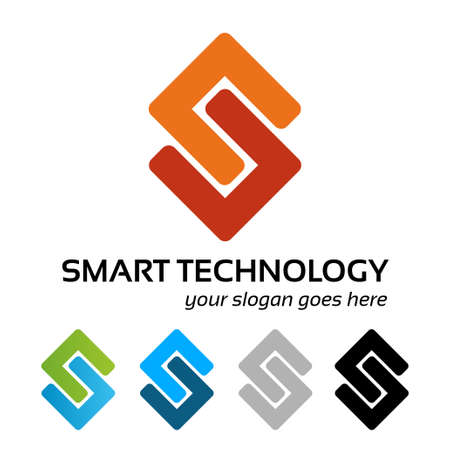 distinct: Smart tech logo template
