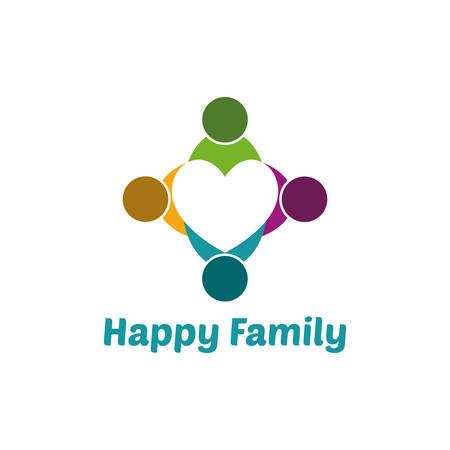 unify: Family heart Illustration