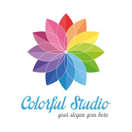 Colorful creative logo Vector
