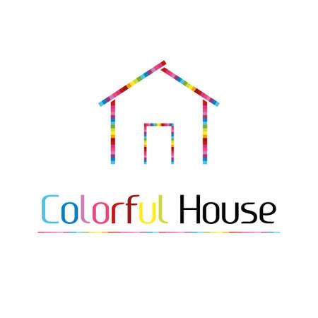casa logo: Casa logo colorato