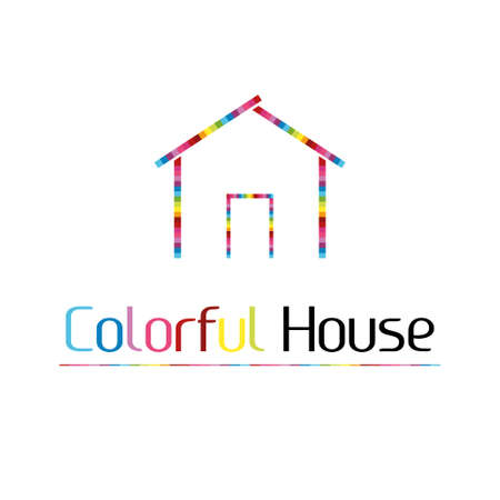 Colorful house logo Vector