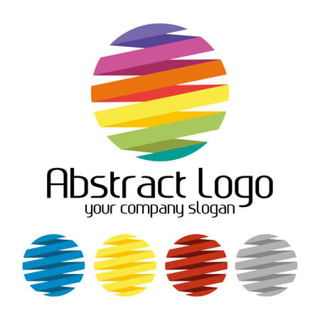 Plantilla de logotipo colorido creativo