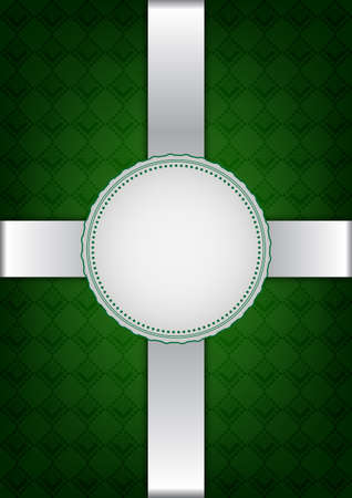 Green abstract decorative  Vector