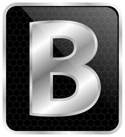 brightness: Silver typographic letter