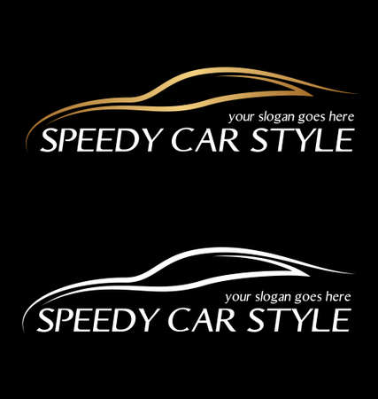 Speedy auto symbool Stock Illustratie