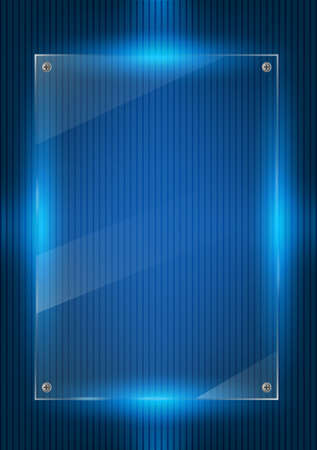 Blue digital background and glass panels