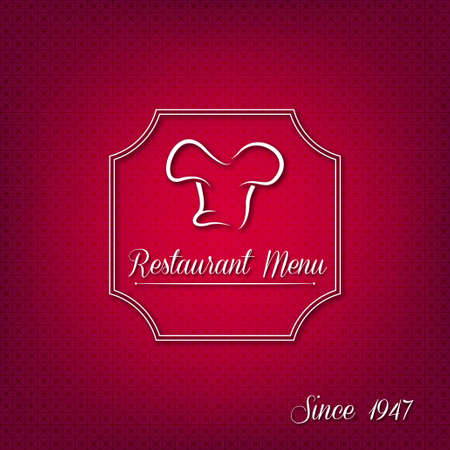 Creative restaurant menu cover Vector