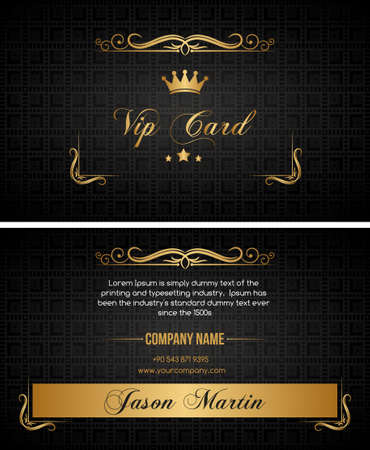 successes: Black vip card Illustration
