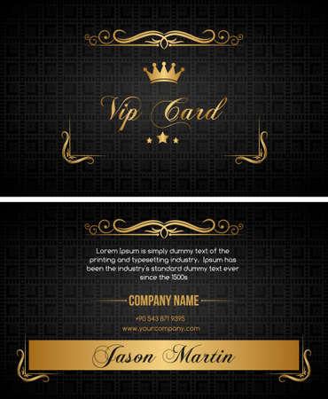 cards design: Black vip card Illustration
