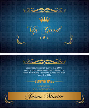 successes: Blue vip card